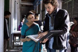 Director Garth Davis with Deepti Naval on the set of LION Photo: Mark Rogers